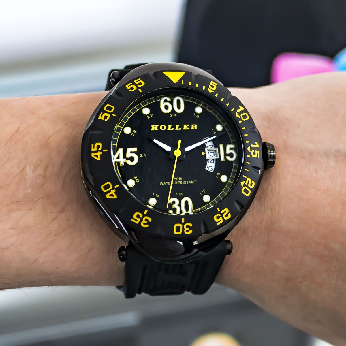 Goldwax Sport Black & Yellow Watch
