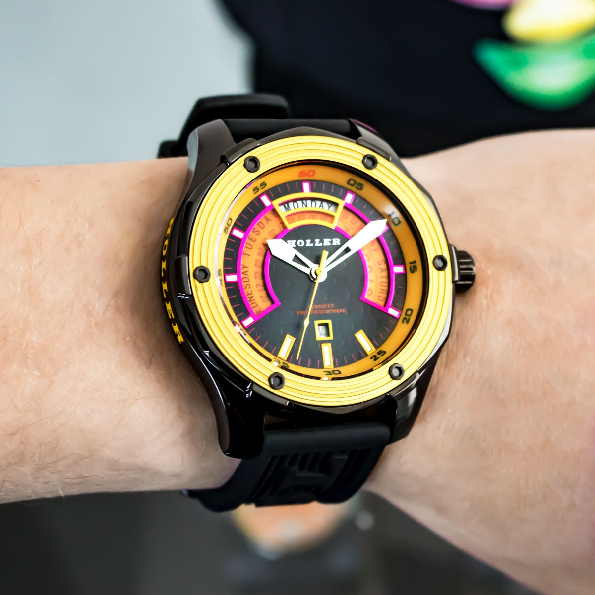 Superfly Black & Yellow Watch
