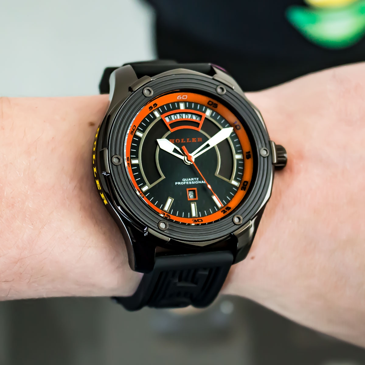 Superfly Black & Orange Watch