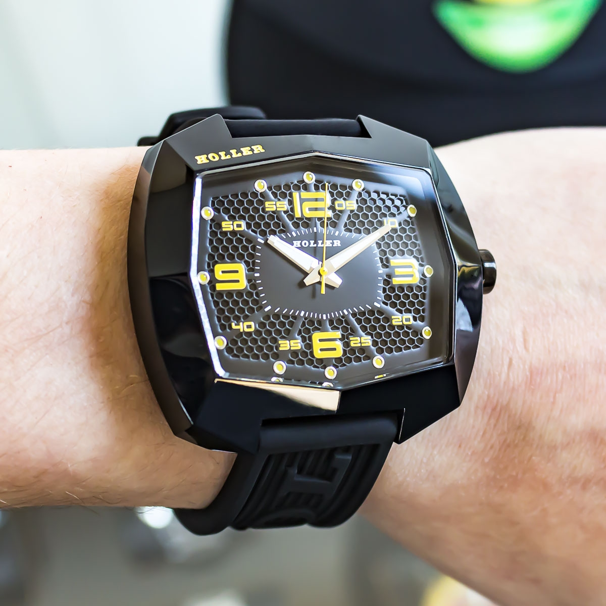 Pimped De Lite Black & Yellow Watch