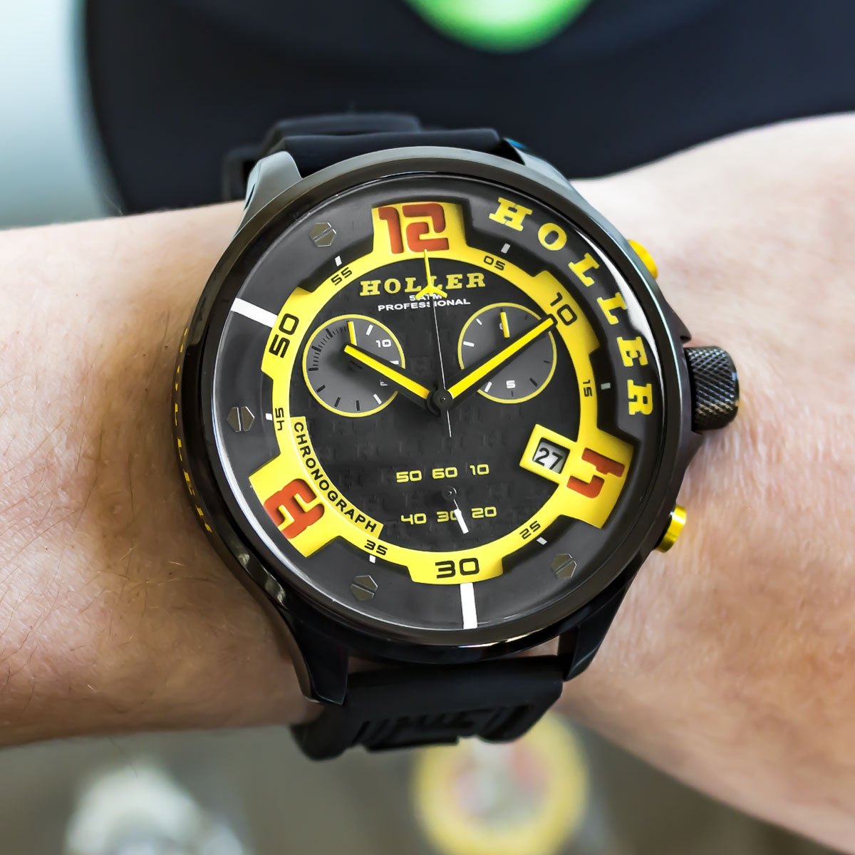 Stax Chrono Yellow Watch