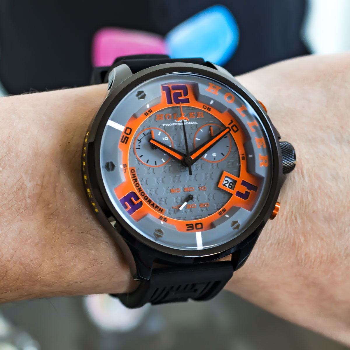 Stax Chrono Orange Watch