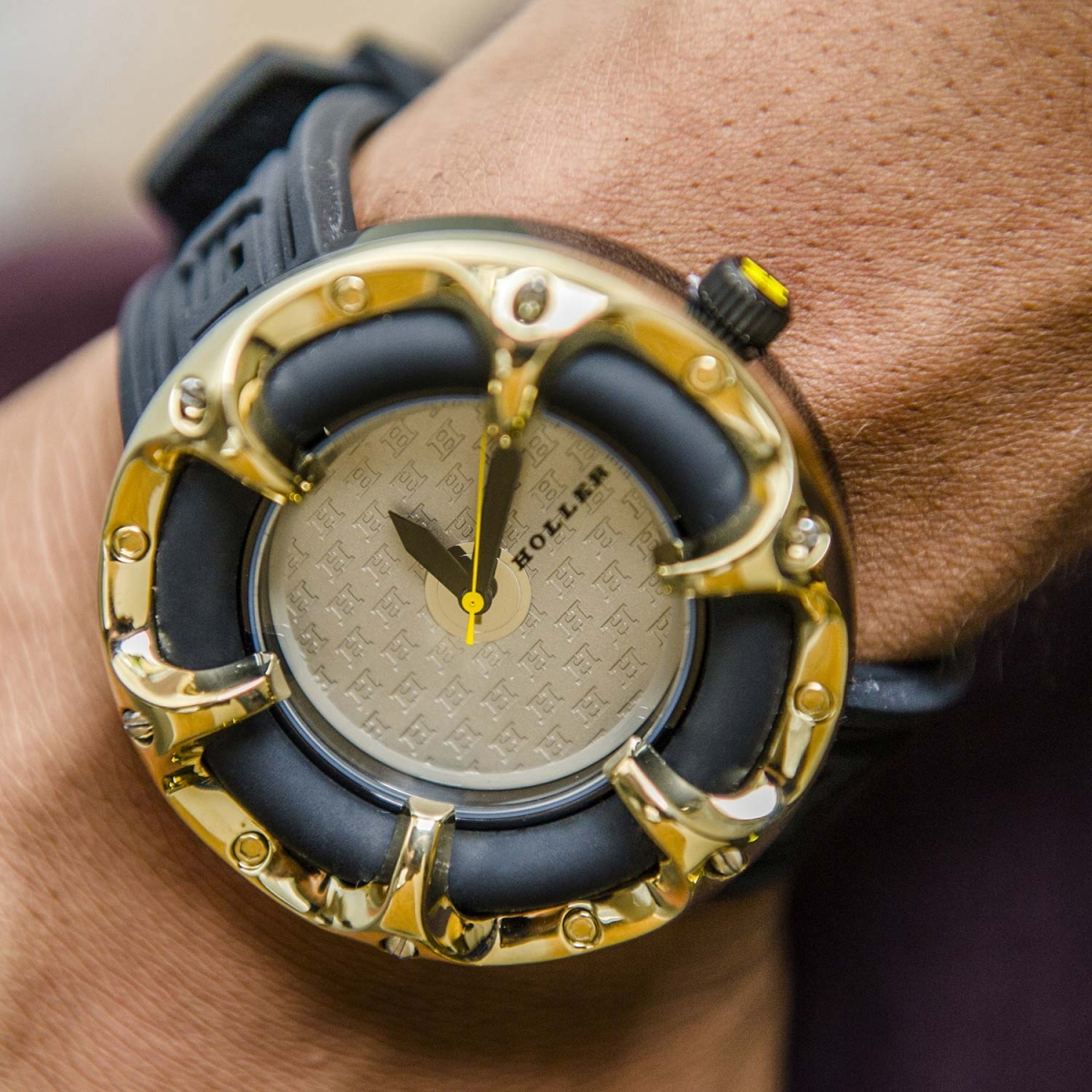 Holler Golden World  Rose Watch