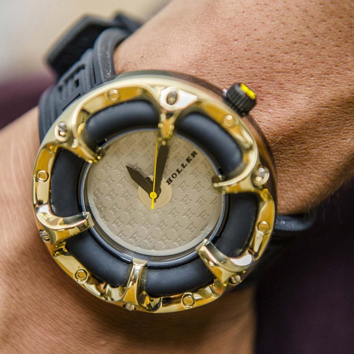 Holler Golden World  Chocolate Watch