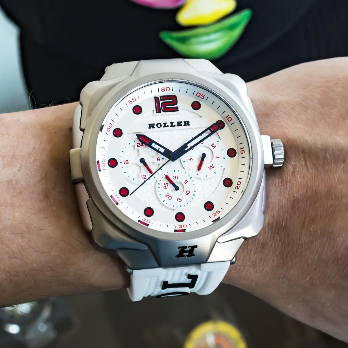 Impact White Chrono Watch