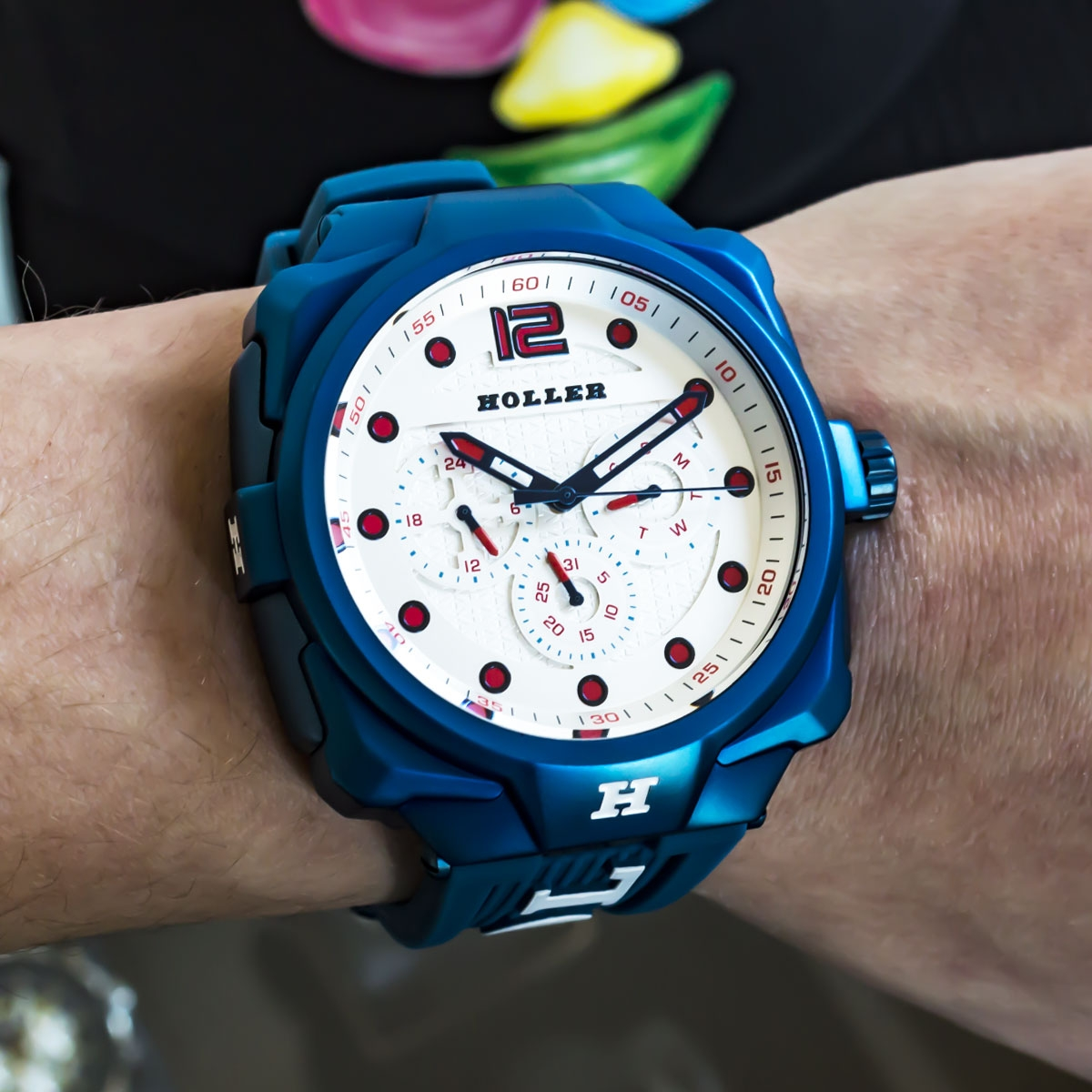 Impact Blue Chrono Watch