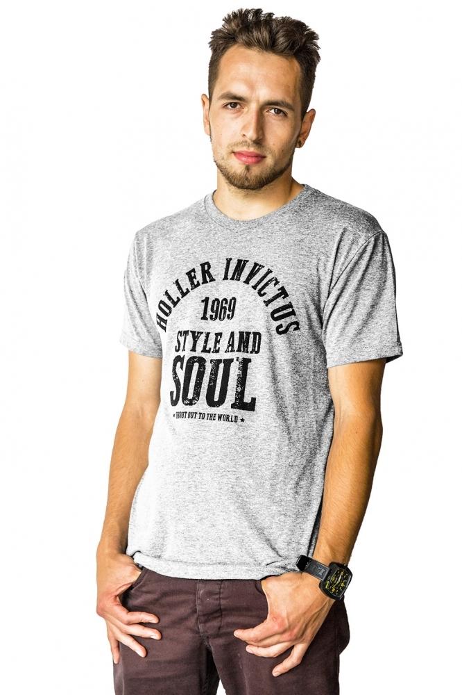 Garvin Grey Marl And Black T-Shirt
