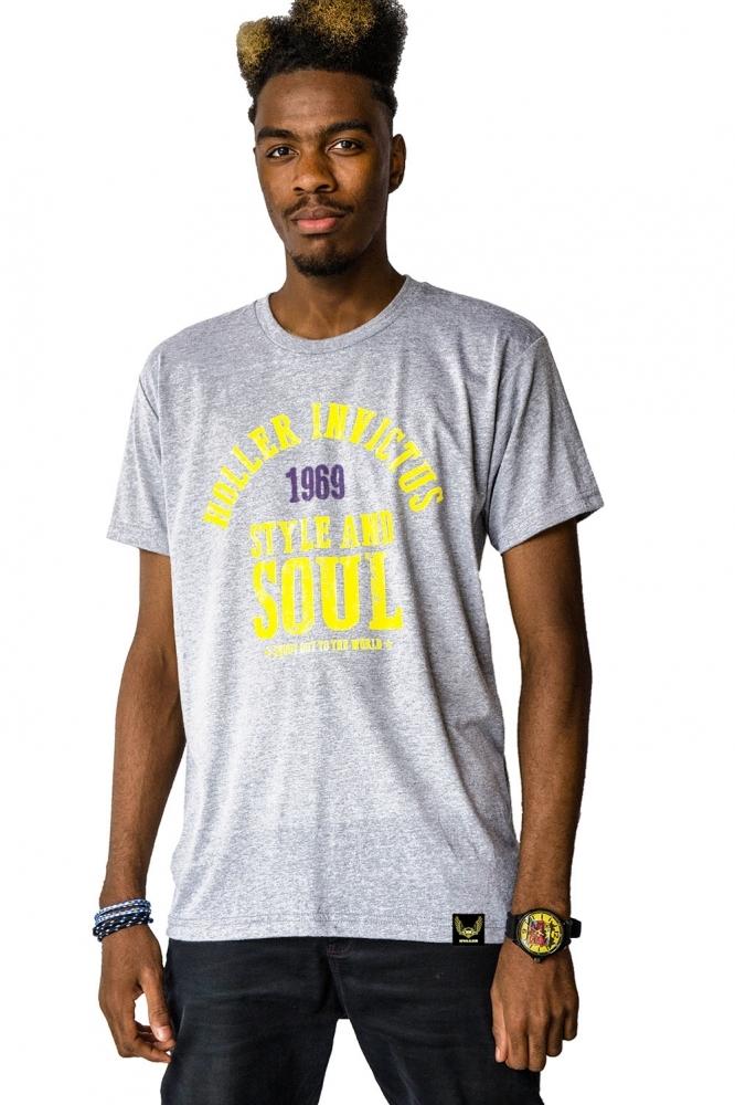Garvin Grey Marl, Yellow & Purple T-Shirt