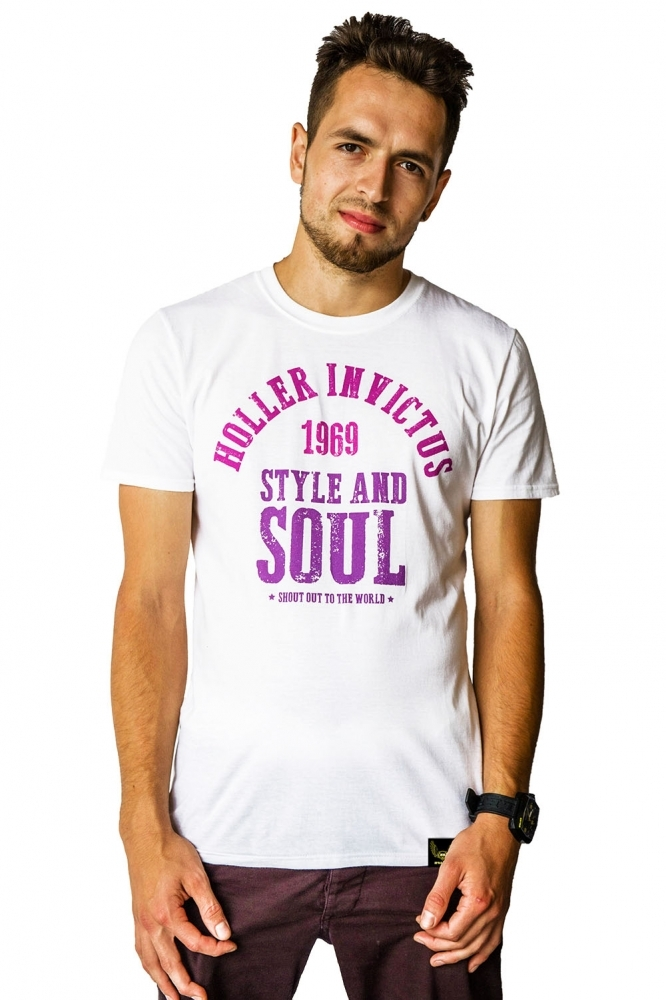 Garvin White And 3 Shades Of Purple T-Shirt