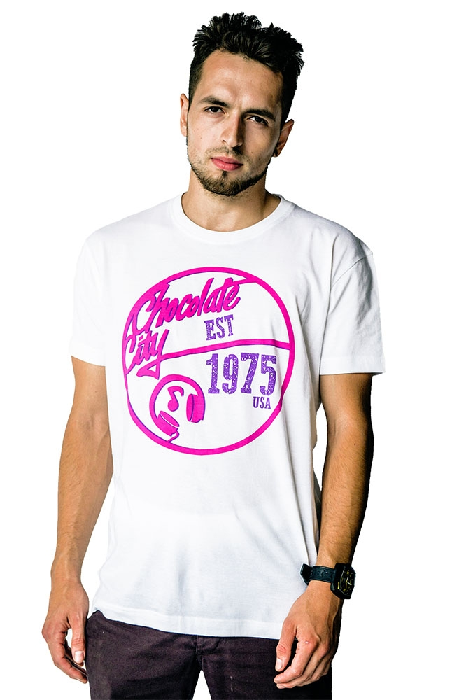 Mello White, Pink And Purple T-Shirt