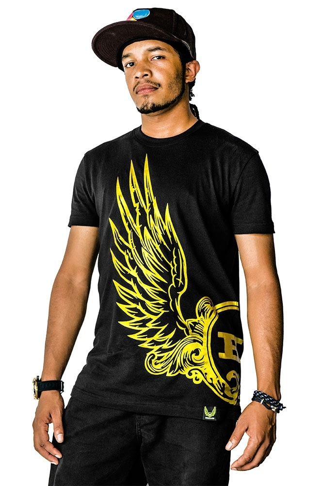 Ruffin Black And Yellow T-Shirt
