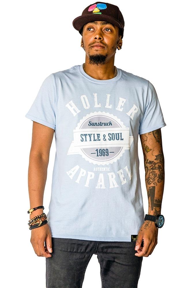 Sinbad Light Blue, White, Grey And Navy T-Shirt