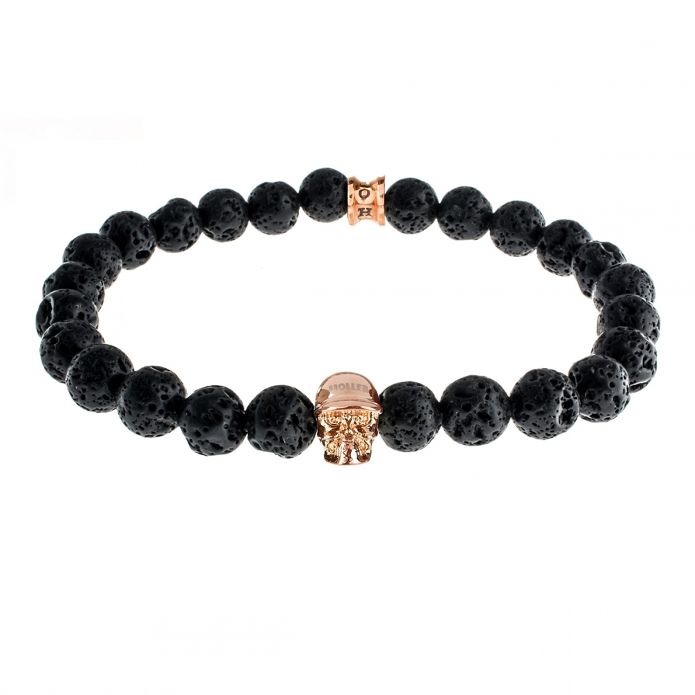 Jefferson 8mm Lava Rock Stone Bracelet