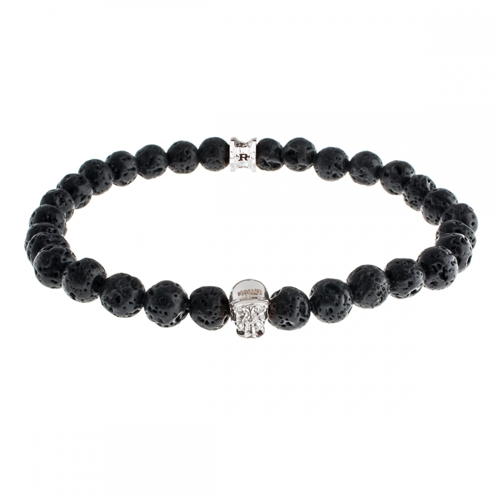 Jefferson 6mm Lava Rock Stone Bracelet