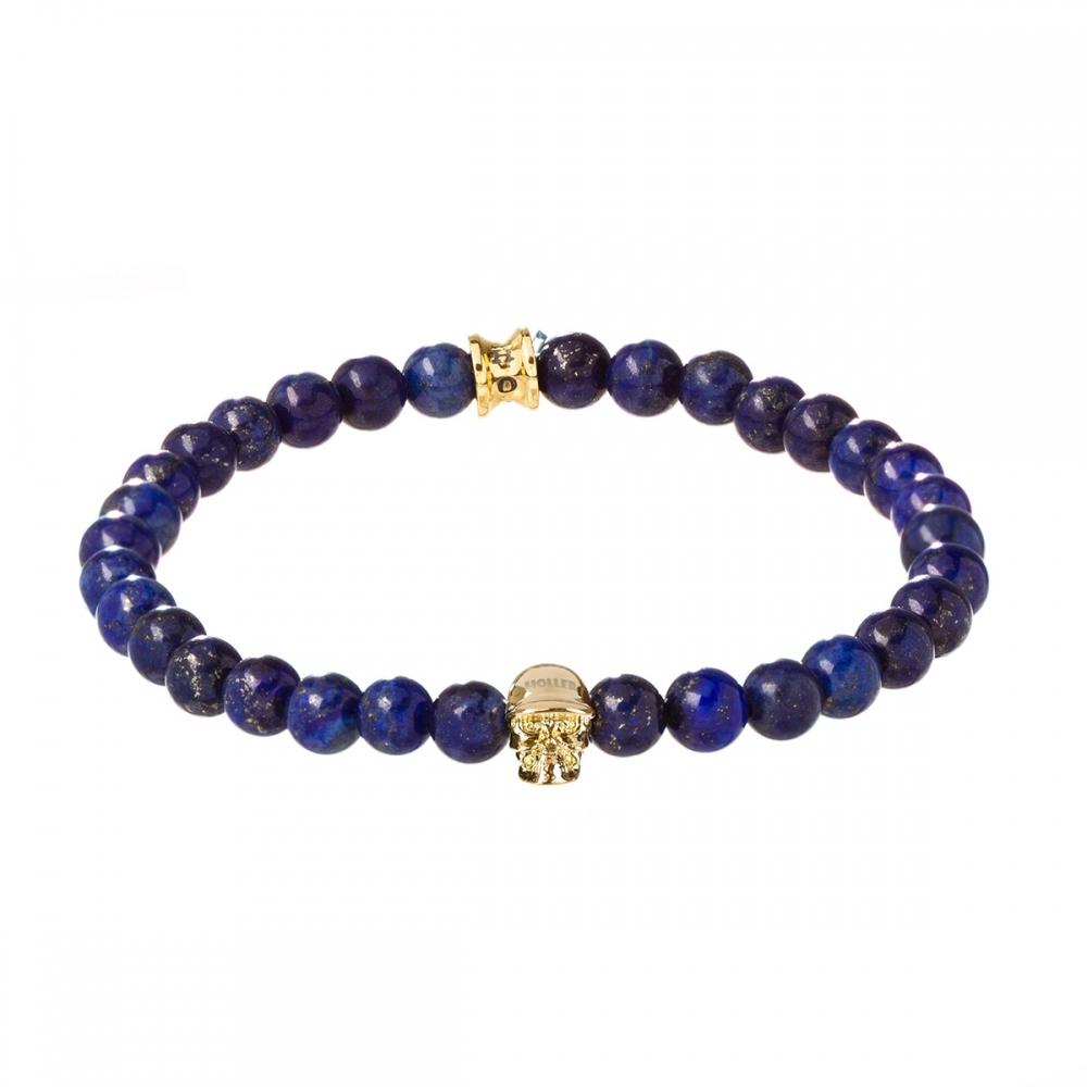Jefferson 6mm Blue Gold Dumortierite Stone Bracelet