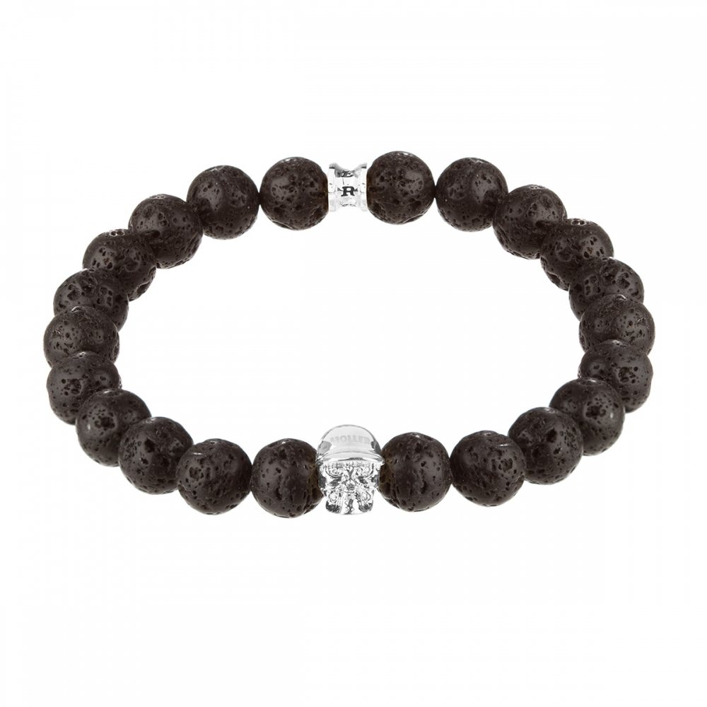Jefferson 10mm Lava Rock Stone Bracelet
