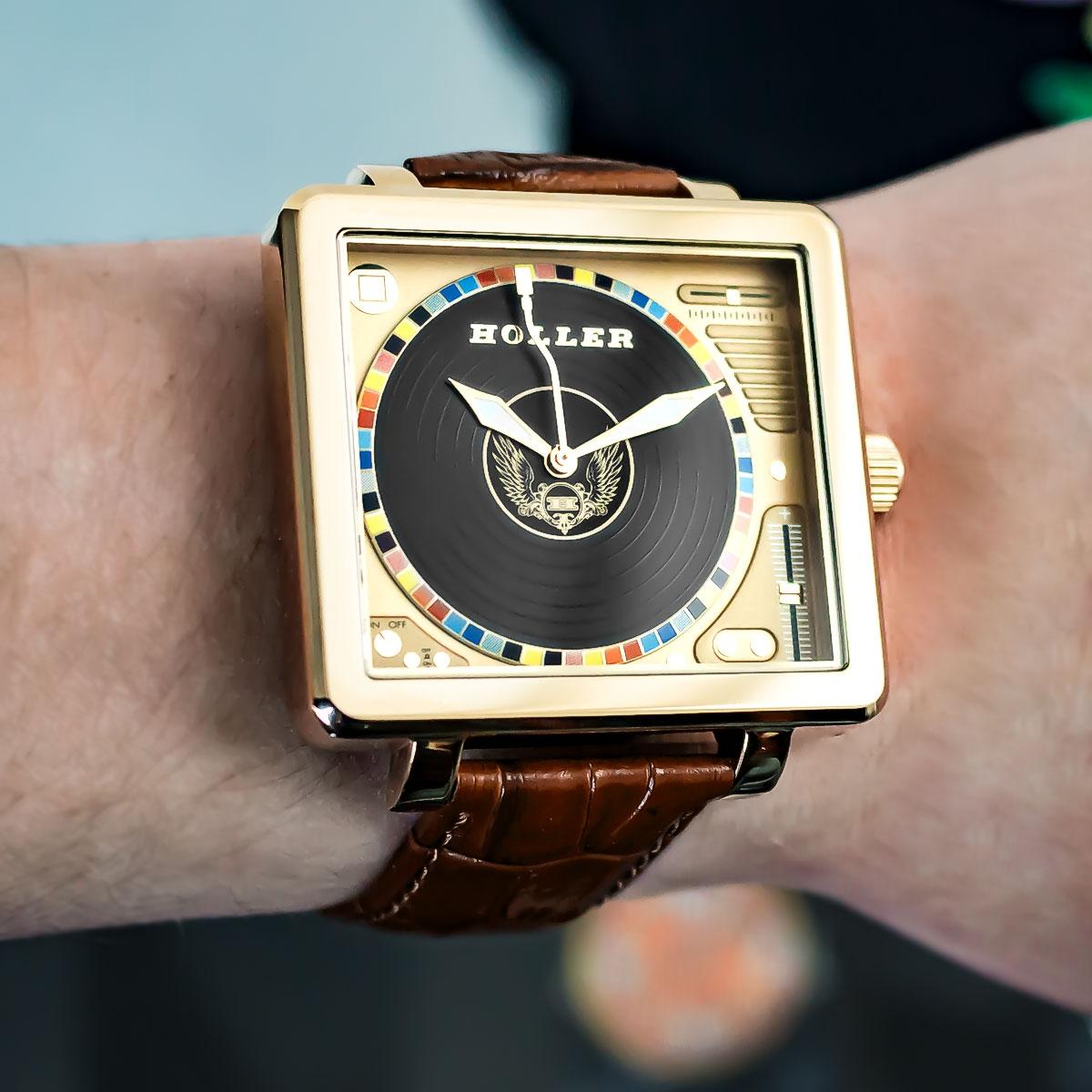 Techno Gold Watch