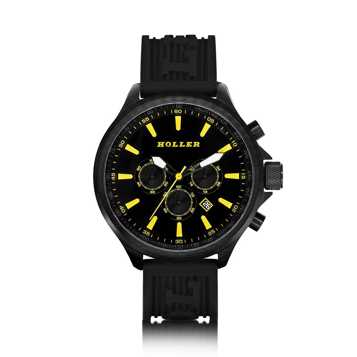 Wingate Black/Yellow Watch