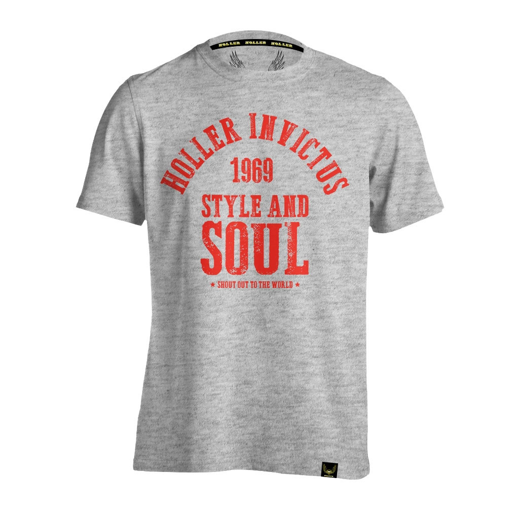 Garvin Grey Marl And Red T-Shirt