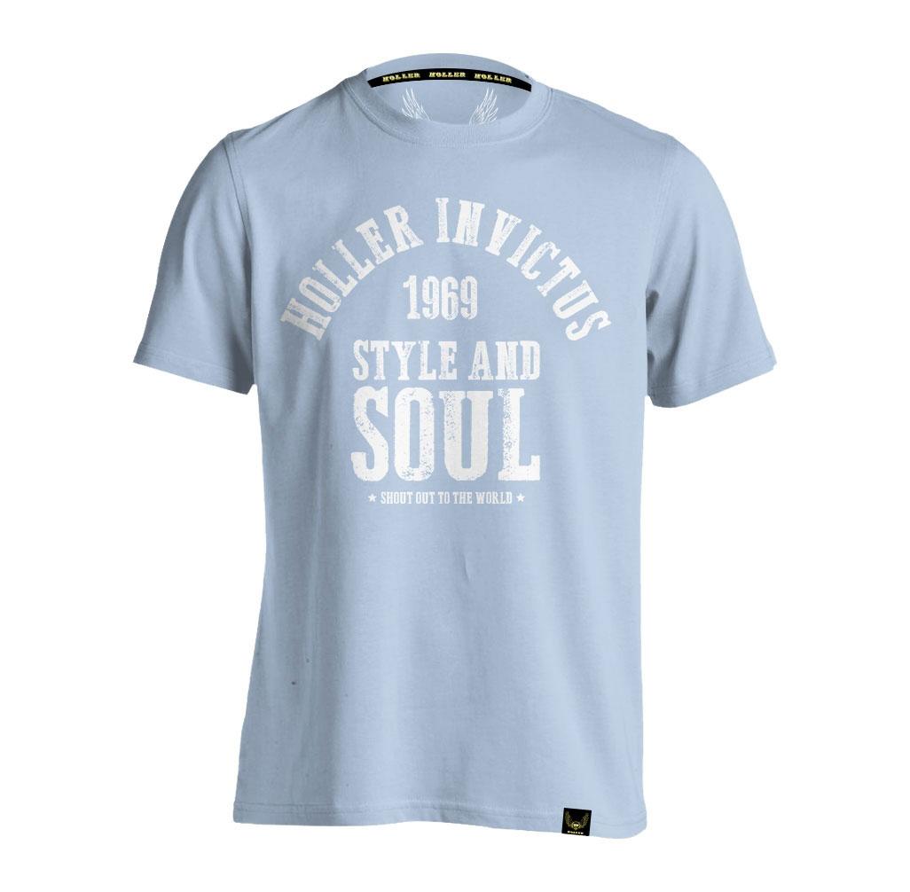 Garvin Light Blue And White T-Shirt