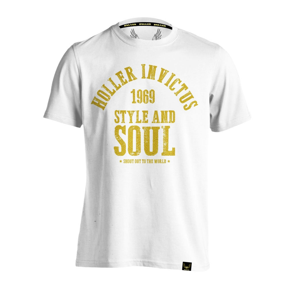 Garvin White And Gold T-Shirt