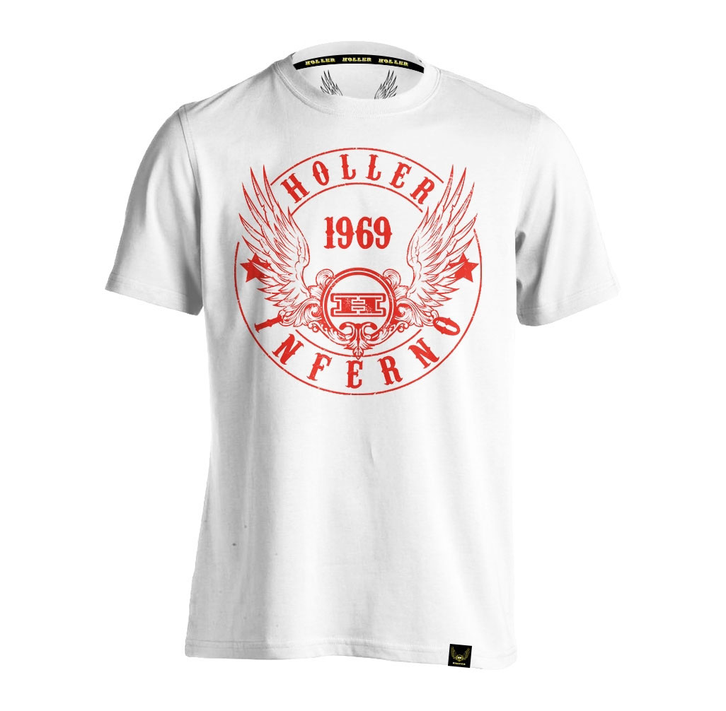 Jenkins White And Red T-Shirt