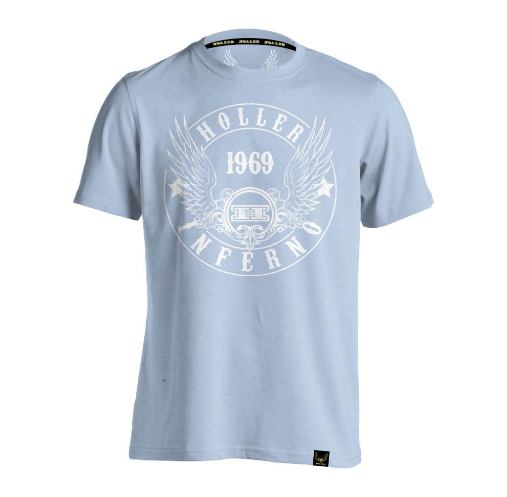 Jenkins Light Blue And White T-Shirt
