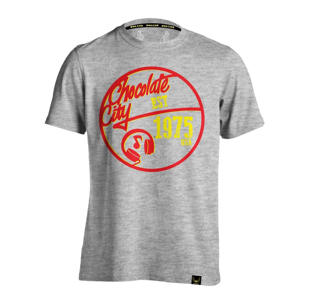 Mello Grey Marl, Red And Yellow T-Shirt