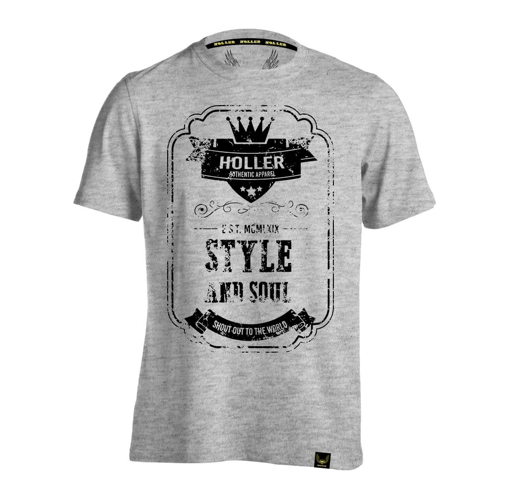 Mitchell Grey Marl And Black T-Shirt