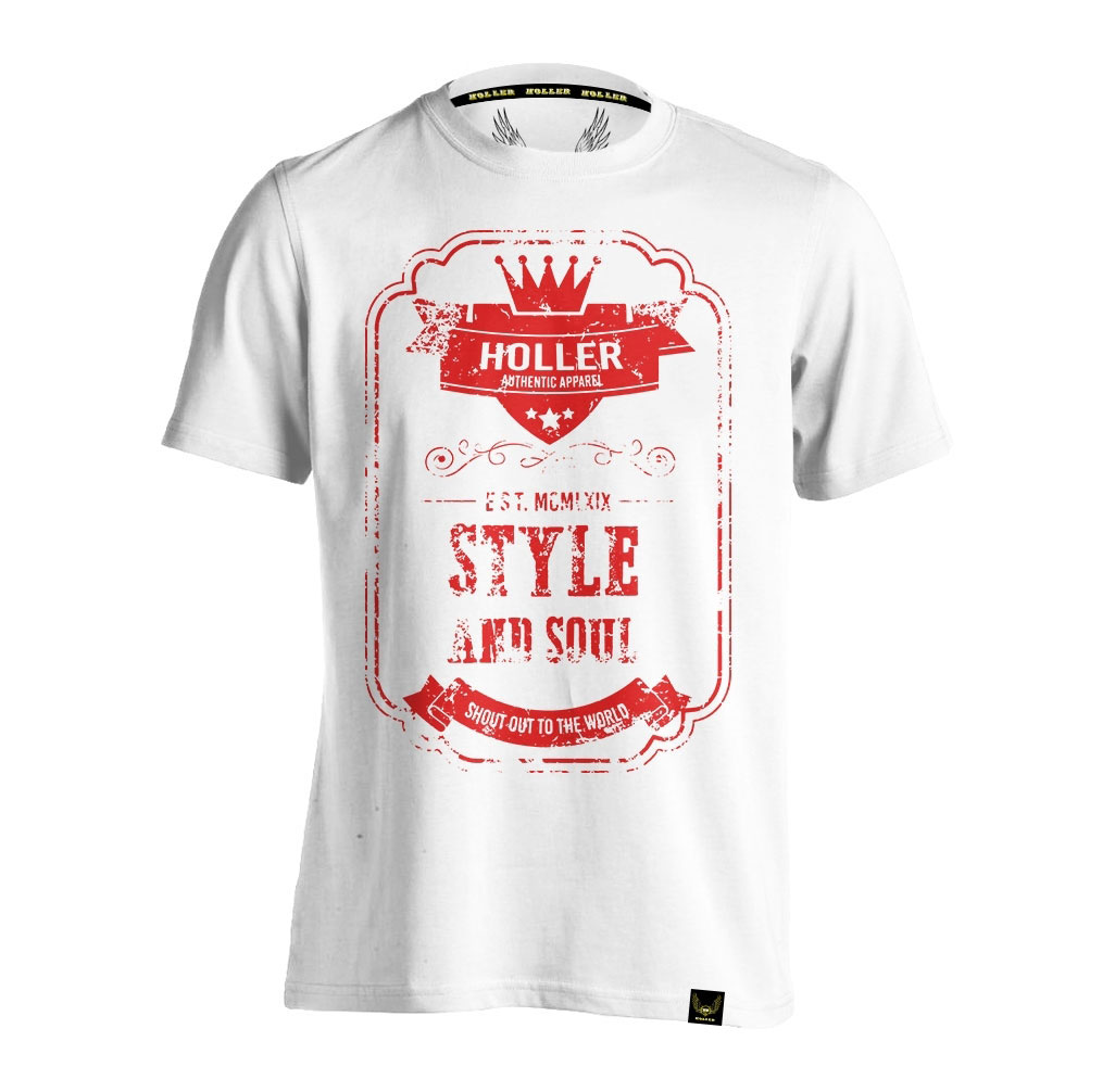 Mitchell White And Red T-Shirt