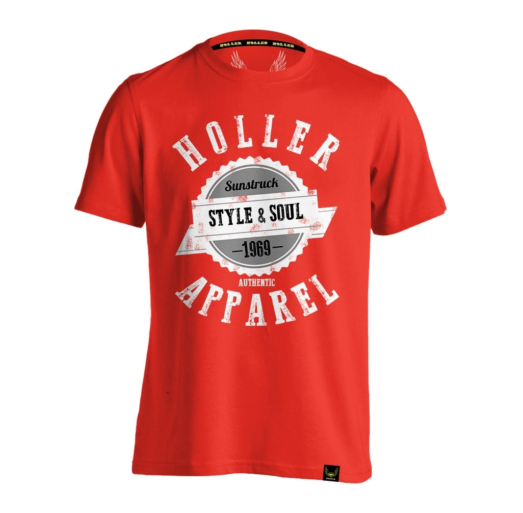 Sinbad Red, White, Grey And Black T-Shirt
