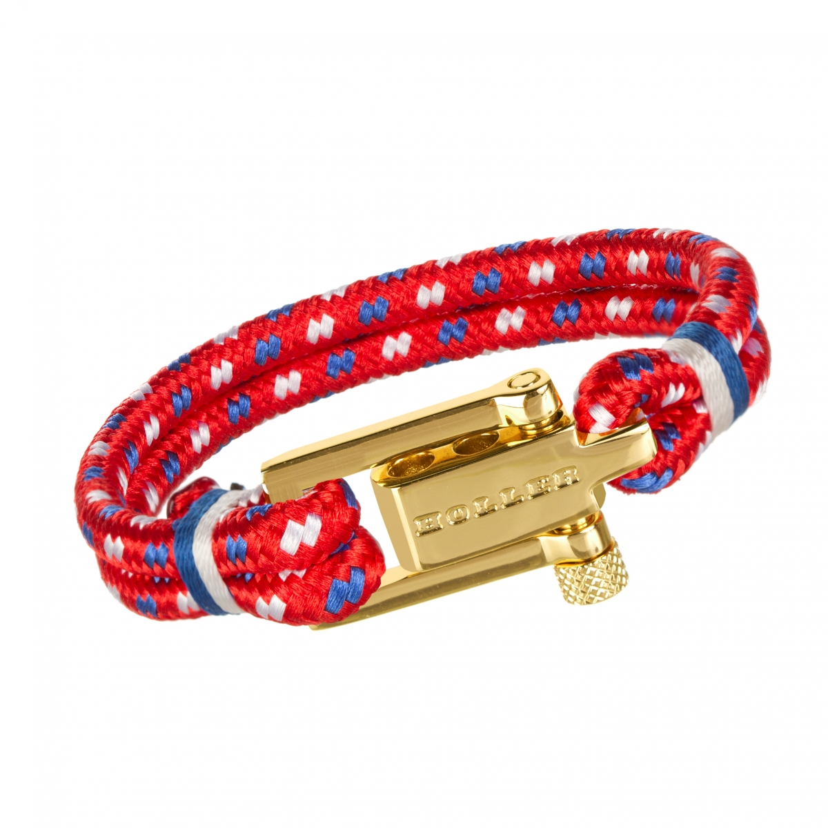 Mancha  Gold Polished U-Buckle / Red Paracord Bracelet