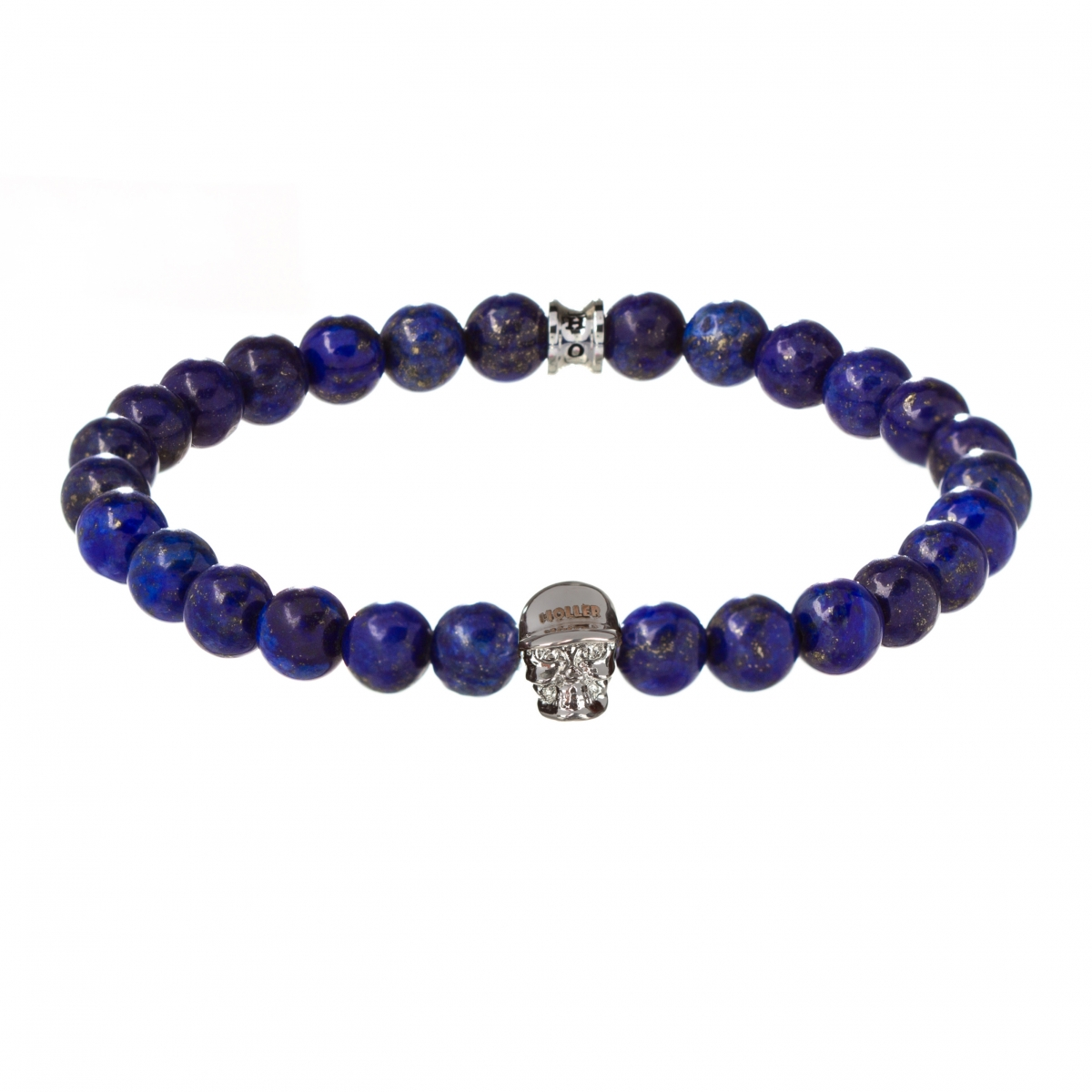 Jefferson 8mm Blue Gold Dumortierite Stone Bracelet