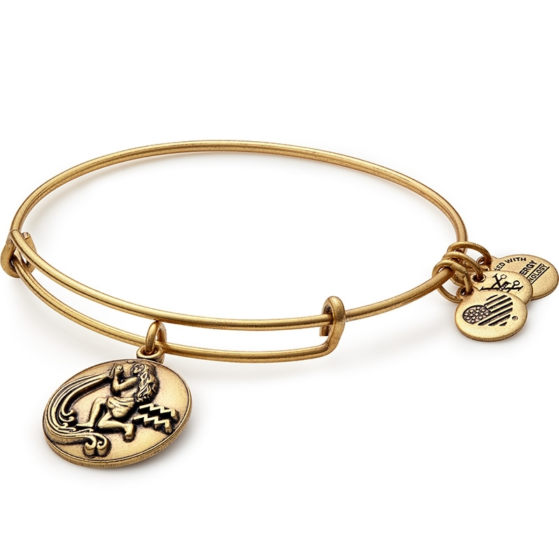 Alex and Ani Aquarius III Charm Bangle