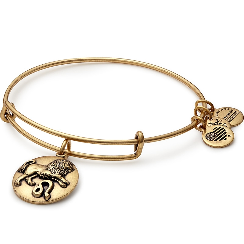 Alex and Ani Leo Charm Bangle