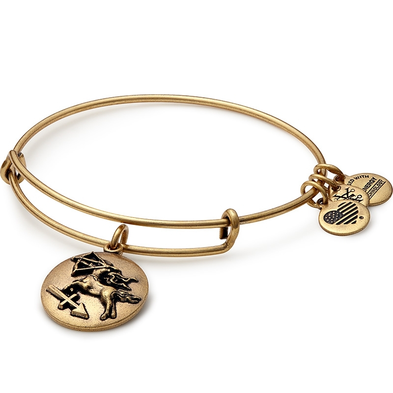 Alex and Ani Sagittarius Charm Gold Bangle A16EB58RG