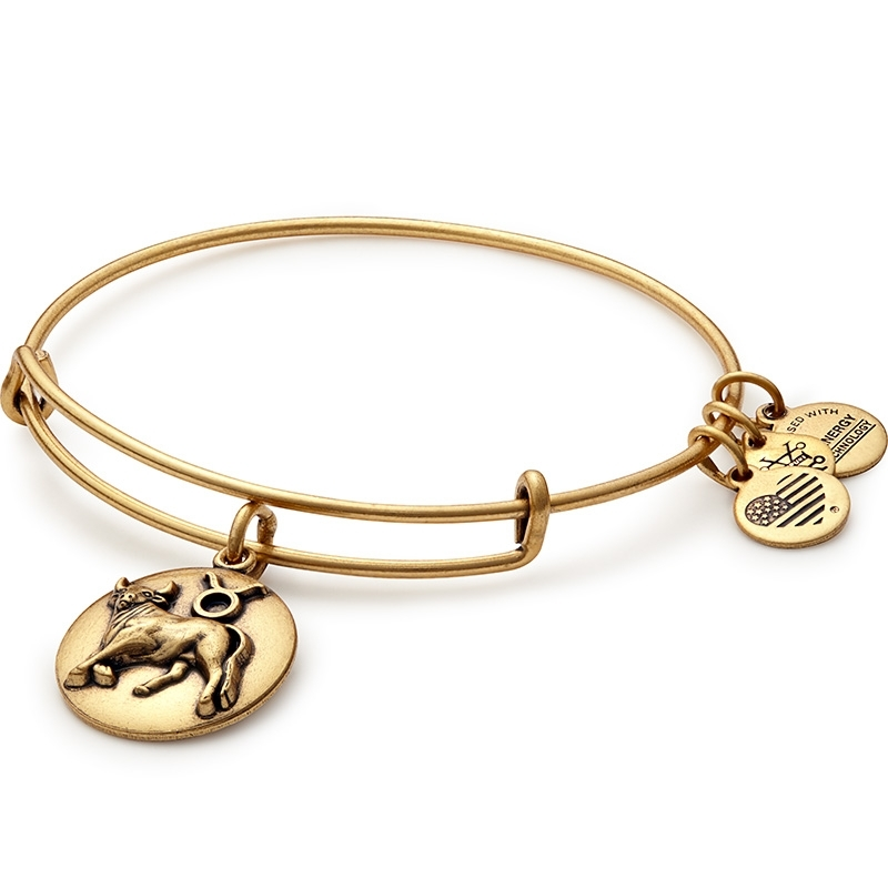 Alex and Ani Taurus Charm Gold Bangle A16EB59RG