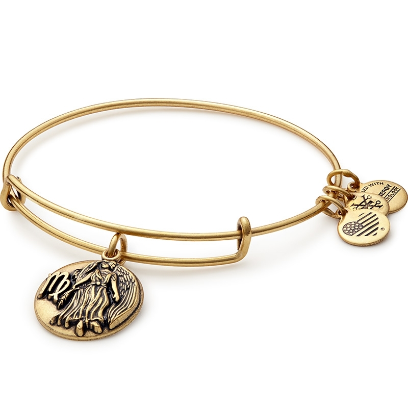 Alex and Ani Virgo Charm Gold Bangle A16EB60RG