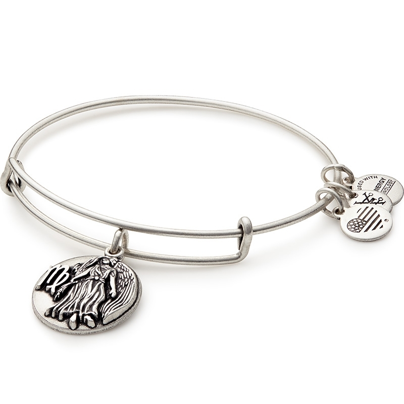 Alex and Ani Virgo Charm Silver Bangle A16EB60RS