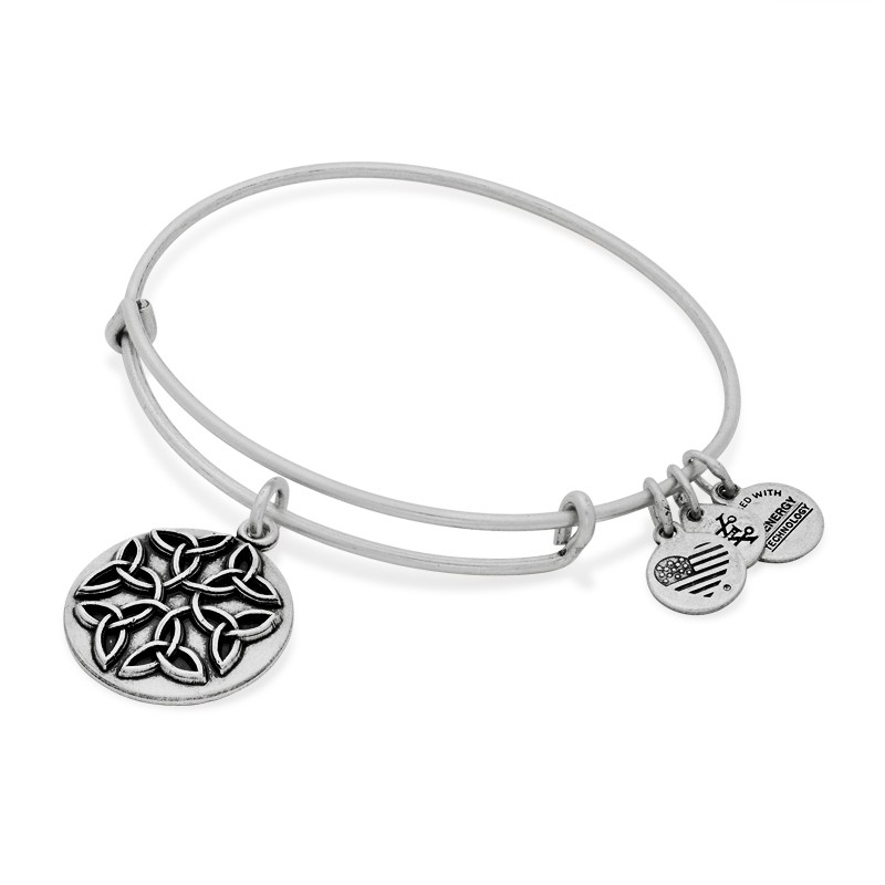 Alex and Ani Endless Knot Charm Silver Bangle A16EBEKRS