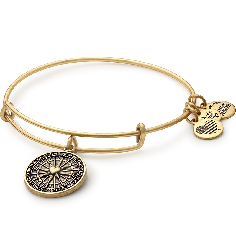Alex and Ani True Direction Charm Gold Bangle A16EB79RG