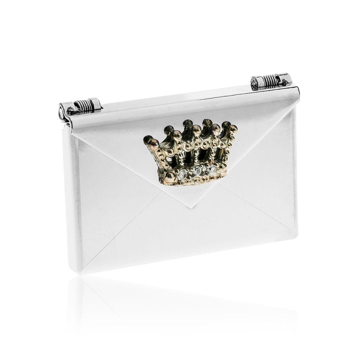 Love Letters Crown Steel Envelope Locket LL-EV-0010