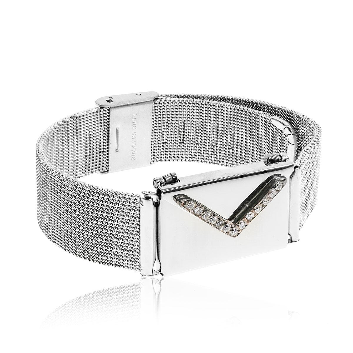Love Letters CZ Locket and Steel Bracelet Set