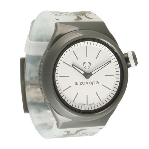 Wize and Ope Low-Rider White and Grey Shuttle Watch SH-LR-2