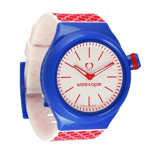 Wize and Ope Geometry Blue and Red Shuttle watch <br>SH-GEO-2