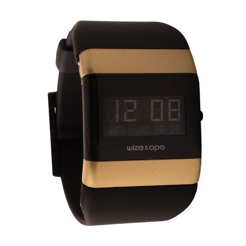 Wize and Ope Classic  Black and Gold Digital  Watch <br>WO-005