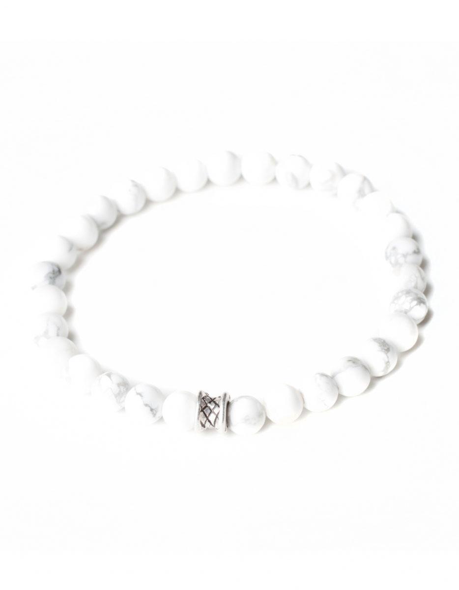 Gemini Small White Basic Bracelet