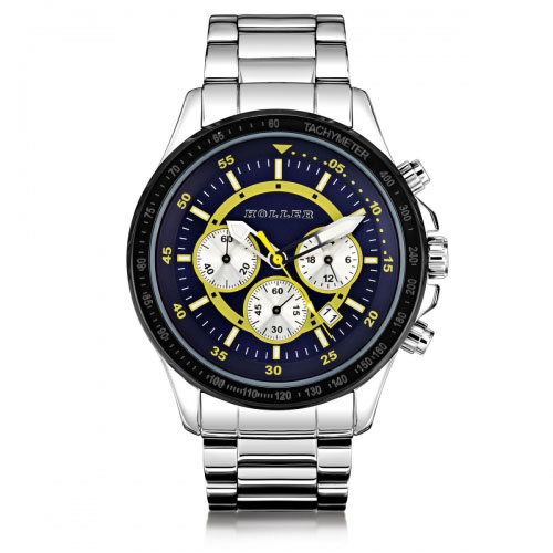 HOLLER Holler Invictus Blue & Yellow Watch