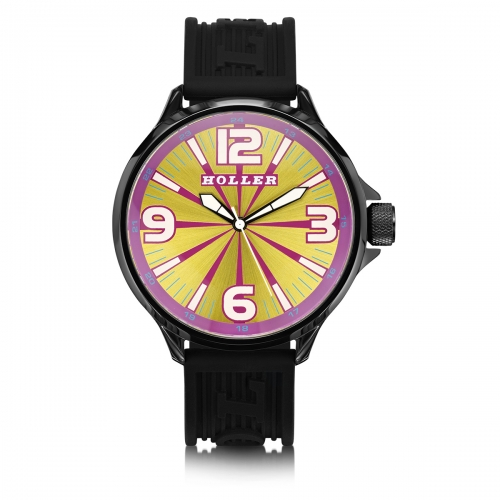Holler Funked Up Pink & Yellow Watch