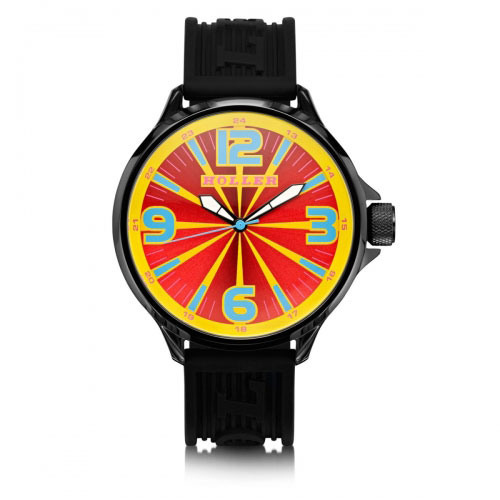 HOLLER Holler Funked Up Red & Yellow Watch